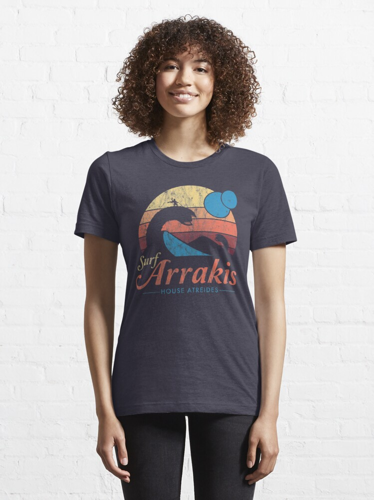 Alternate view of Visit Arrakis - Vintage Distressed Surf - Dune - Sci Fi Essential T-Shirt