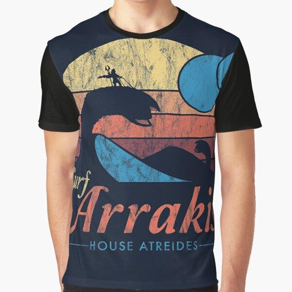 Visit Arrakis - Vintage Distressed Surf - Dune - Sci Fi Graphic T-Shirt
