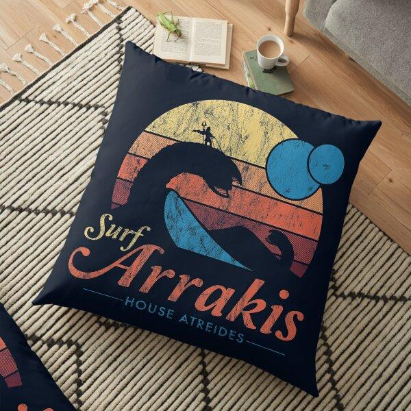 Visit Arrakis - Vintage Distressed Surf - Dune - Sci Fi Floor Pillow