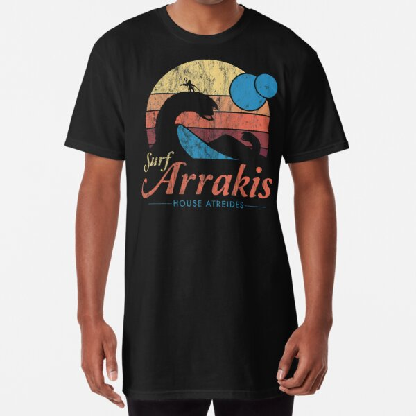 Visita Arrakis - Vintage Distressed Surf - Dune - Sci Fi Camiseta larga