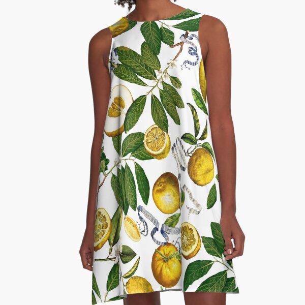 Lemon Tree - White A-Line Dress