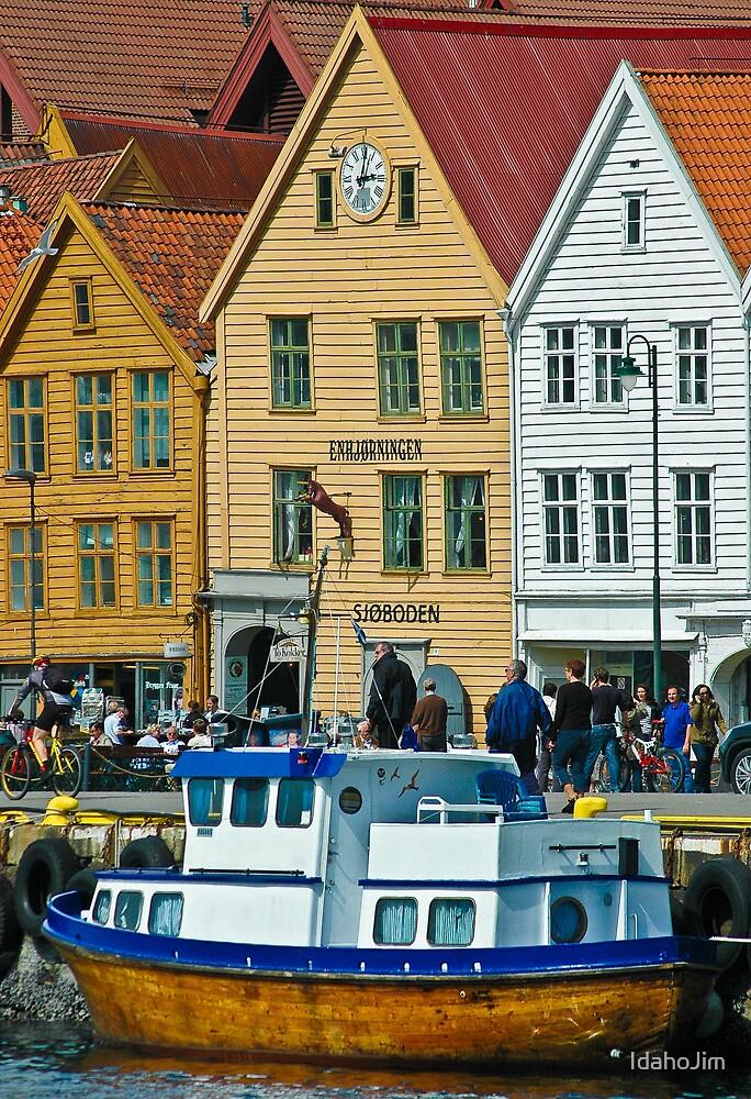 Boat in Bergen by IdahoJim