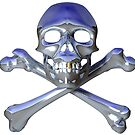 Chrome skull and crossbones by bmgdesigns