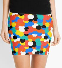 Print with big circles in bight multiple colors Mini Skirt