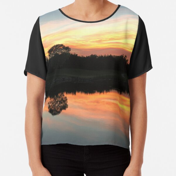Sunset on the Course Chiffon Top