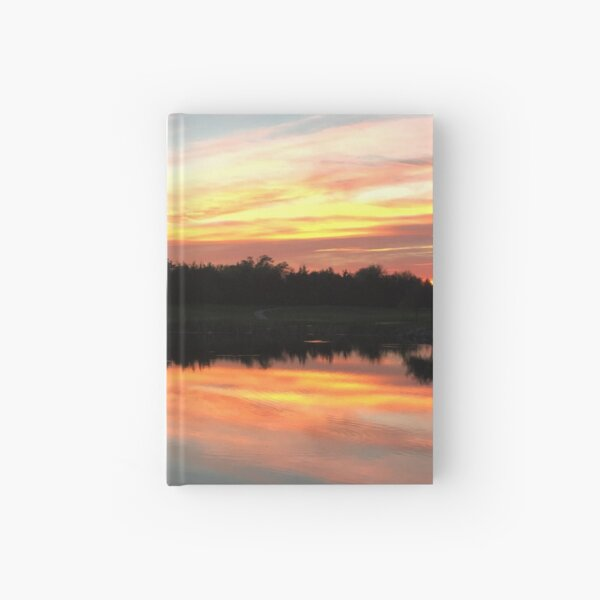 Sunset on the Course Hardcover Journal