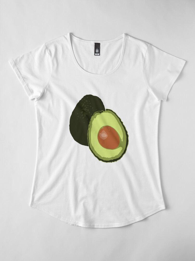 Alternate view of Avocado Premium Scoop T-Shirt