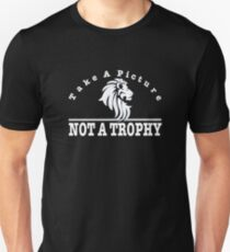 Anti Trophy Hunting design. Take A Picture Not A Trophy Slim Fit T-Shirt
