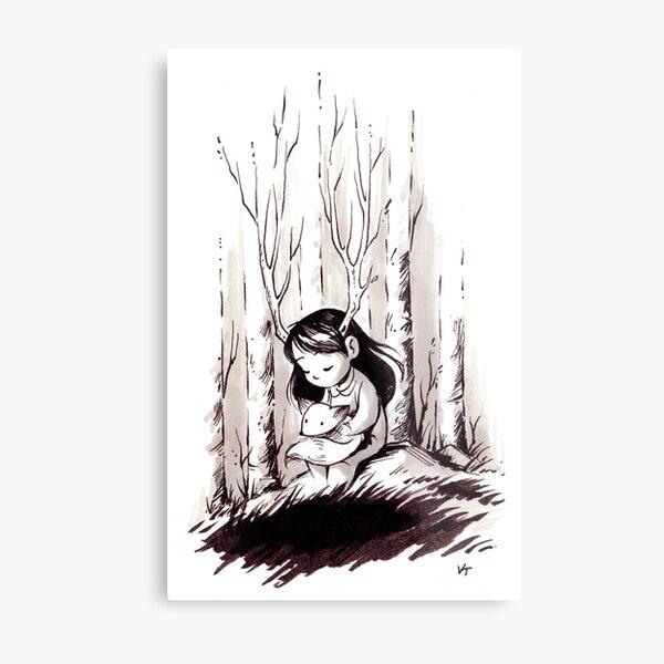 Foxgirl Metal Print
