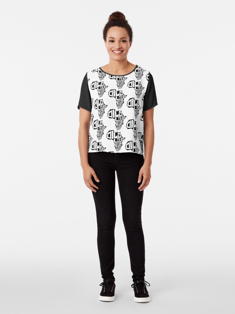 Alternate view of DILO LOUD: Africa Third Culture Series Chiffon Top