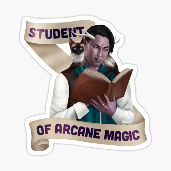 Wizard: Student of Arcane Magic Sticker