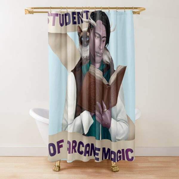 Wizard: Student of Arcane Magic Shower Curtain