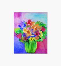 Bright Bouquet Art Board Print