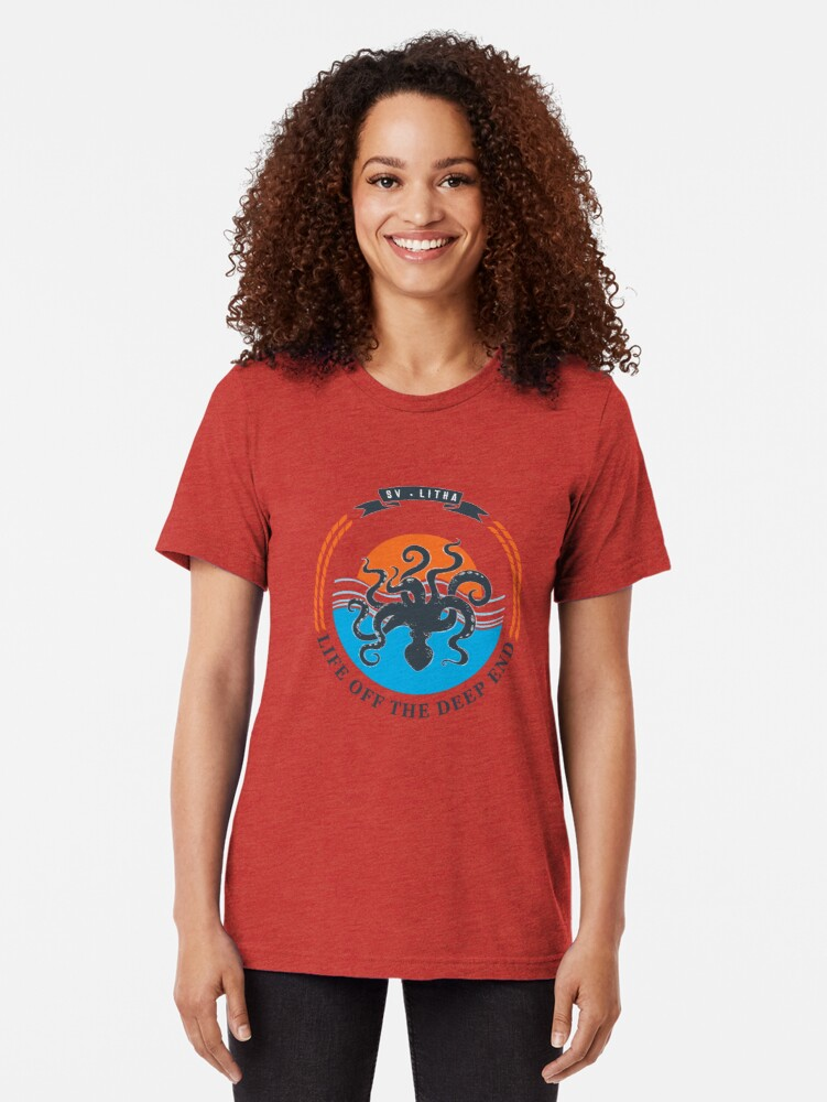 Alternate view of Life off the deep end Tri-blend T-Shirt