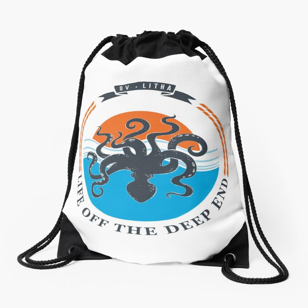 Life off the deep end Drawstring Bag