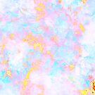 Beautiful Unicorn Marble Pattern in Pink, blue and Yellow by Dominiquevari