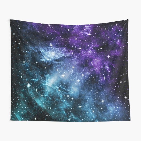 Purple Teal Galaxy Nebula Dream #1 #decor #art  Tapestry