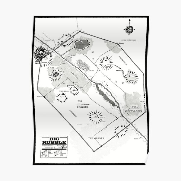 Map of The Big Rubble Poster