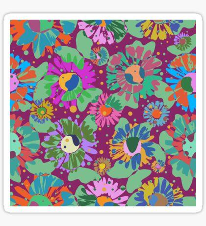Pop Butterflies V Glossy Sticker