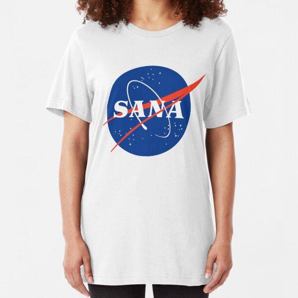 TWICE SANA NASA LOGO PARODY KPOP Slim Fit T-Shirt