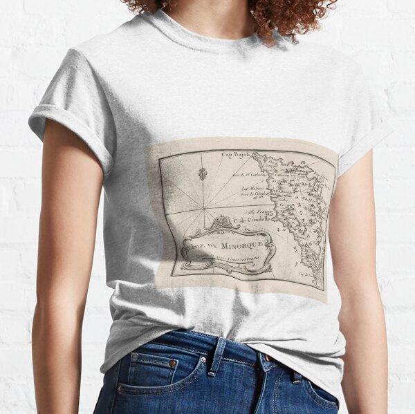 Vintage Menorca Inselkarte (1764) Classic T-Shirt