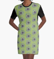 Thin blue flames in a sea of green Graphic T-Shirt Dress