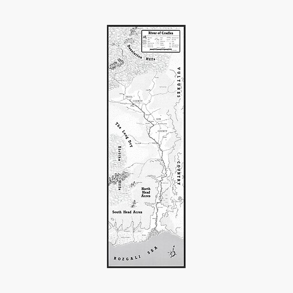 River of Cradles Map Photographic Print