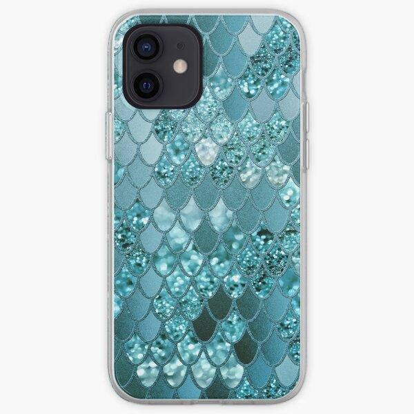 Mermaid Glitter Scales #4 (Faux Glitter) #shiny #decor #art iPhone Soft Case