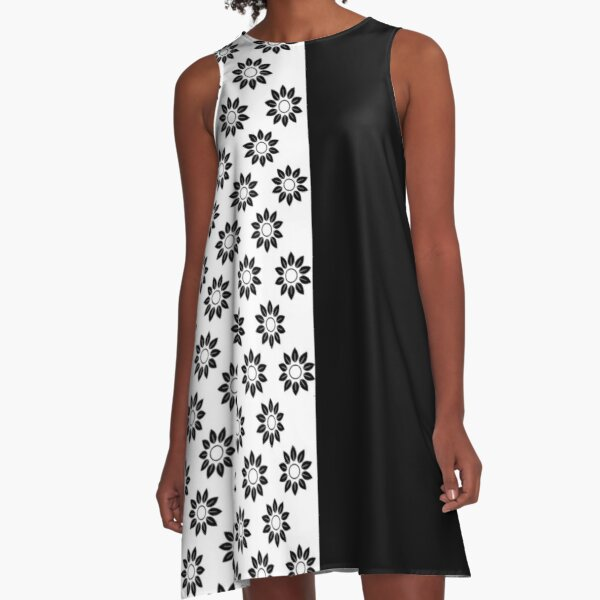Style Black and White A-Line Dress