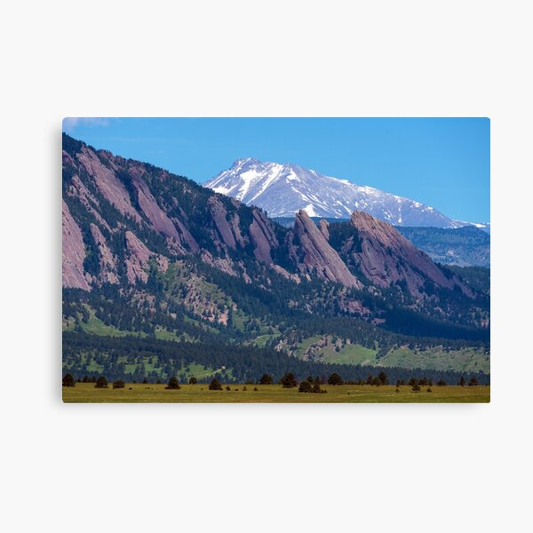 Boulder Flatirons and Longs Peak Canvas Print