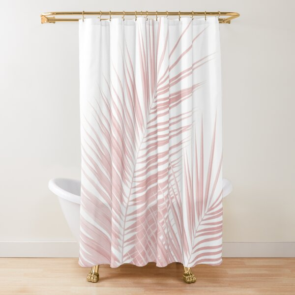Blush Pink Palm Leaves Dream - Cali Summer Vibes #1 #tropical #decor #art  Shower Curtain
