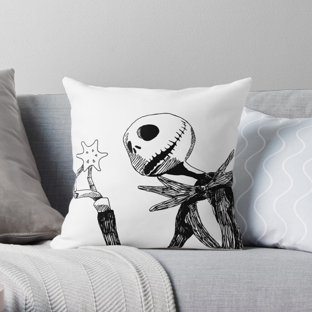 Jack - The nightmare before christmass Throw Pillow