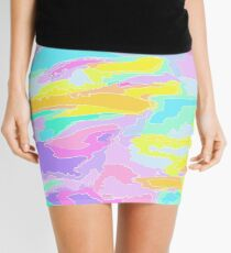 Color Collage Mini Skirt