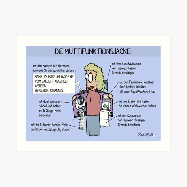 Zeichenteufel - Muttifunktionsjacke Kunstdruck