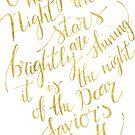 O heilige Nacht in Gold von blursbyai
