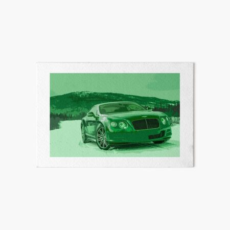 Bentley Continental GT Art Board Print