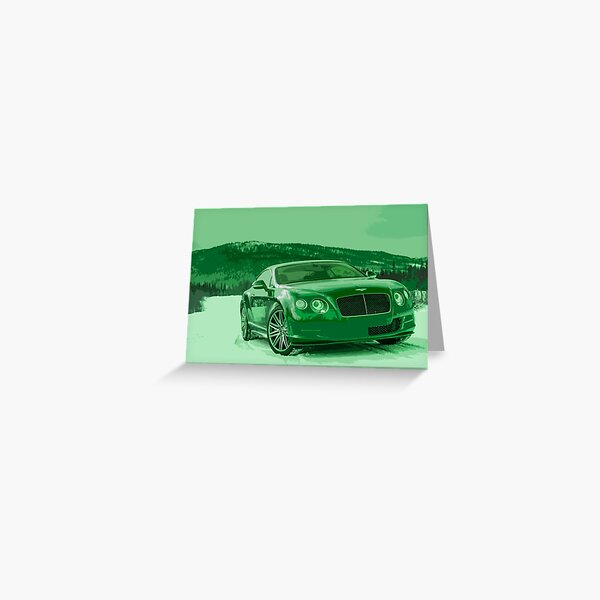 Bentley Continental GT Greeting Card