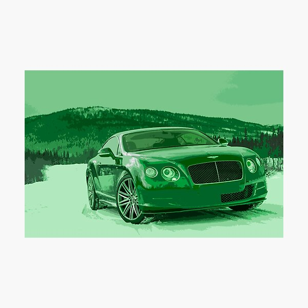 Bentley Continental GT Photographic Print