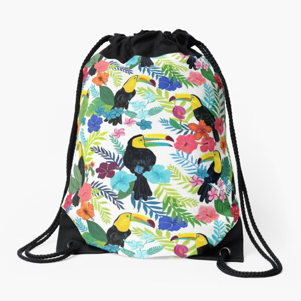 Tropical Toucans Drawstring Bag