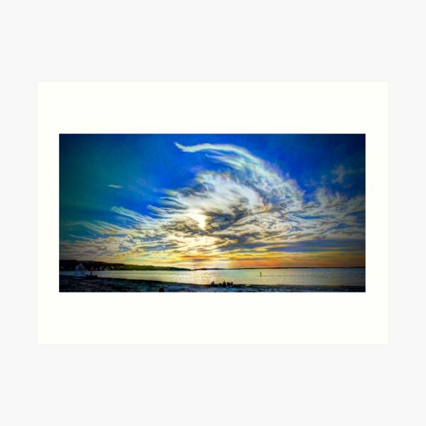 Peconic Bay Sunset Art Print