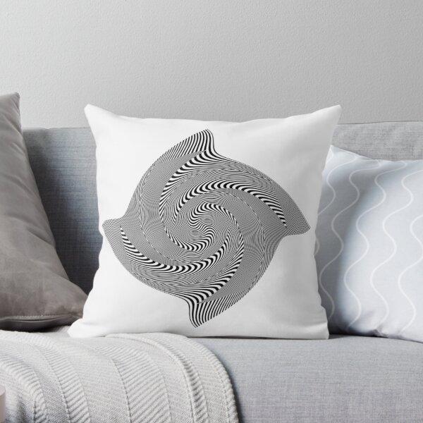 Black and white #illusion #clipart #BlackAndWhite #illusionClipart Throw Pillow