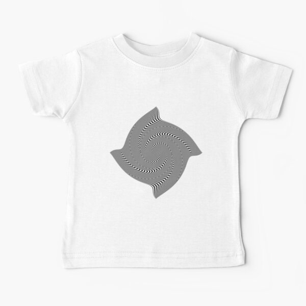 Black and white #illusion #clipart #BlackAndWhite #illusionClipart Baby T-Shirt