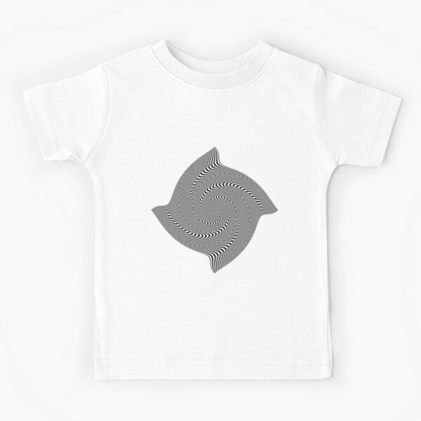 Black and white #illusion #clipart #BlackAndWhite #illusionClipart Kids T-Shirt