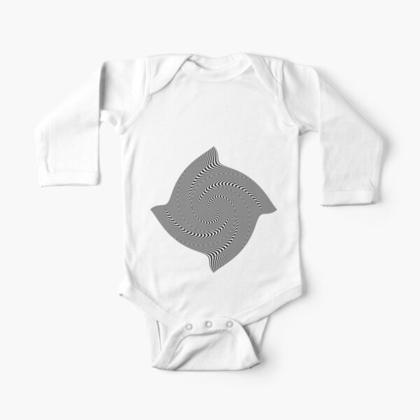 Black and white #illusion #clipart #BlackAndWhite #illusionClipart Long Sleeve Baby One-Piece