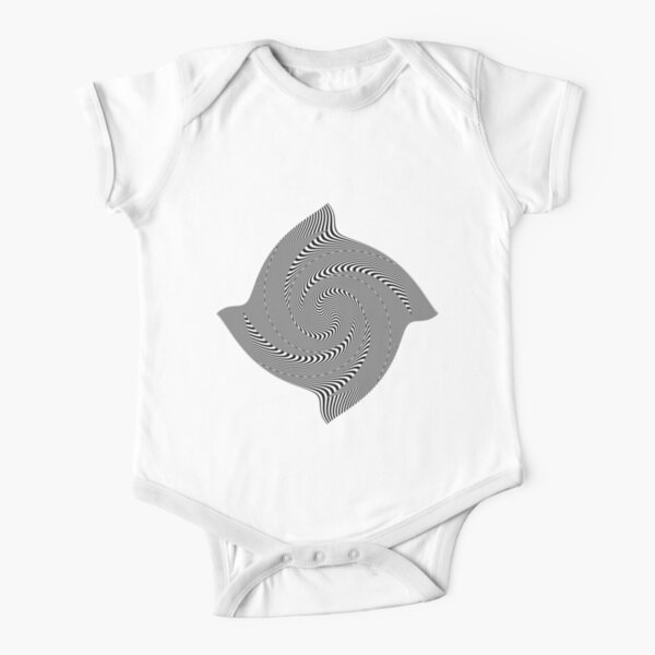 Black and white #illusion #clipart #BlackAndWhite #illusionClipart Short Sleeve Baby One-Piece