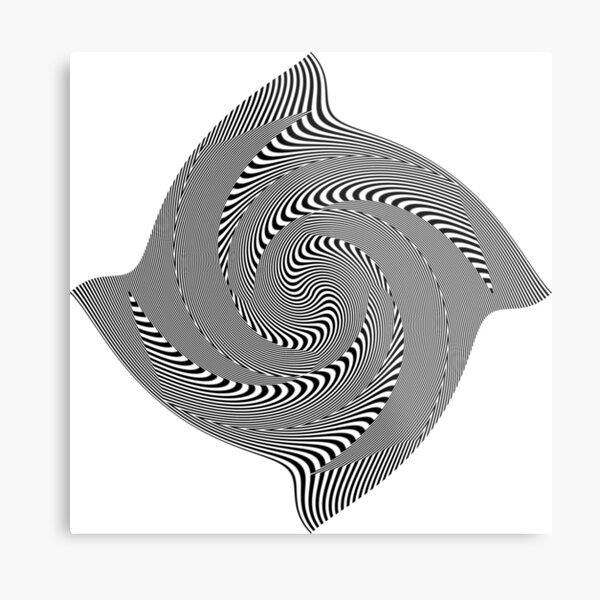 Black and white #illusion #clipart #BlackAndWhite #illusionClipart Metal Print