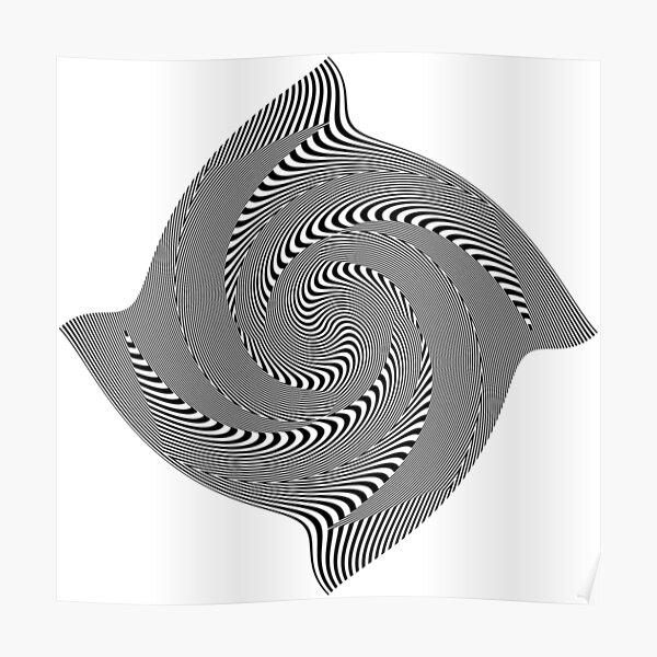 Black and white #illusion #clipart #BlackAndWhite #illusionClipart Poster
