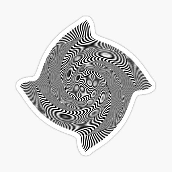 Black and white #illusion #clipart #BlackAndWhite #illusionClipart Sticker