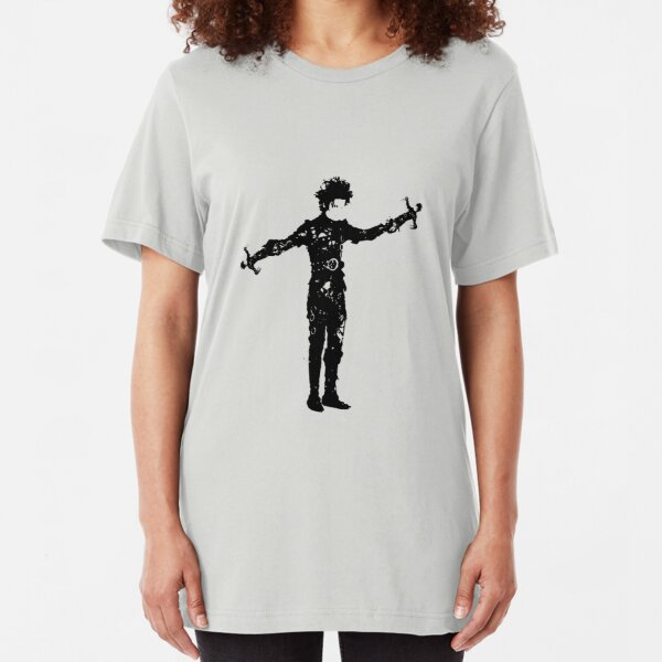 Edward Edward Scissorhands Hands Slim Fit T-Shirt