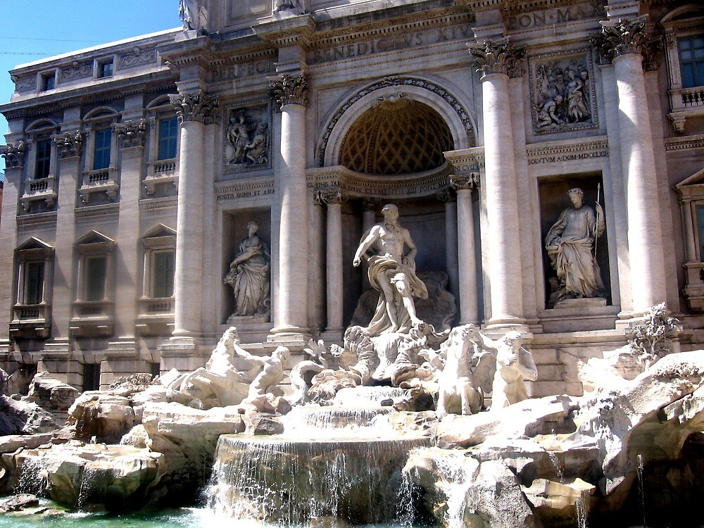 The Trevi Fountain by Alexis  Reber